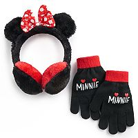 Disney's Minnie Mouse Girls 4-16 Faux-Fur Ear Muffs & Gloves Set