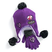 Disney's Descendants Mal Girls 4-16 Sherpa Fleece-Lined Hat & Gloves Set