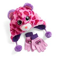 Girls 4-16 TY Beanie Boos Faux-Fur Plush 3D Leopard Hat & Gloves Set