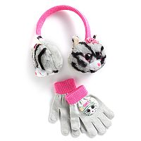 Girls 4-16 TY Beanie Boos 3D Metallic Plush Earmuffs & Gloves Set