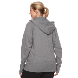 Plus Size Tek Gear® Ribbed Fleece Zip-Up Jacket