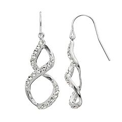 Confetti Crystal Twist Drop Earrings