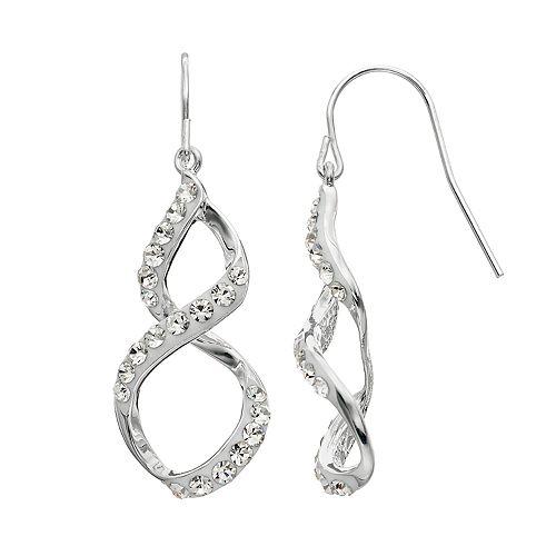 Confetti Crystal Twist Drop Earrings