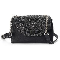 Candie's® Glitter Flap Envelope Crossbody Bag