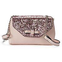 Candie's® Glitter Flap Envelope Crossbody Bag