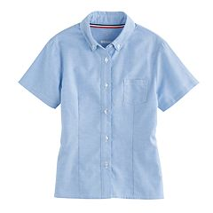 Girls 4-20 & Plus Size French Toast Short Sleeve Oxford Shirt