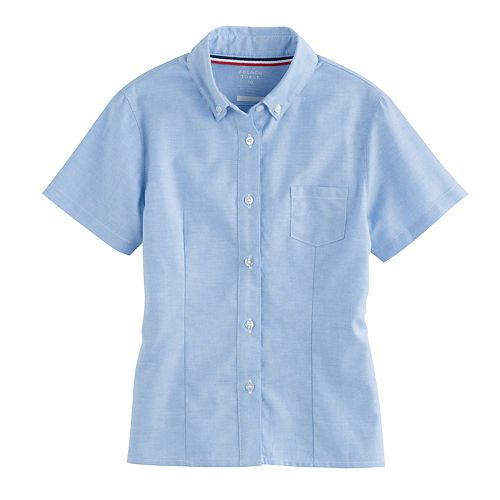 Girls 4-20 & Plus Size French Toast Short Sleeve Oxford Shirt
