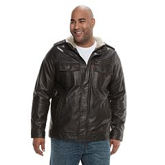 Men's Levi's® Sherpa-Lined Faux-Leather Trucker Jacket
