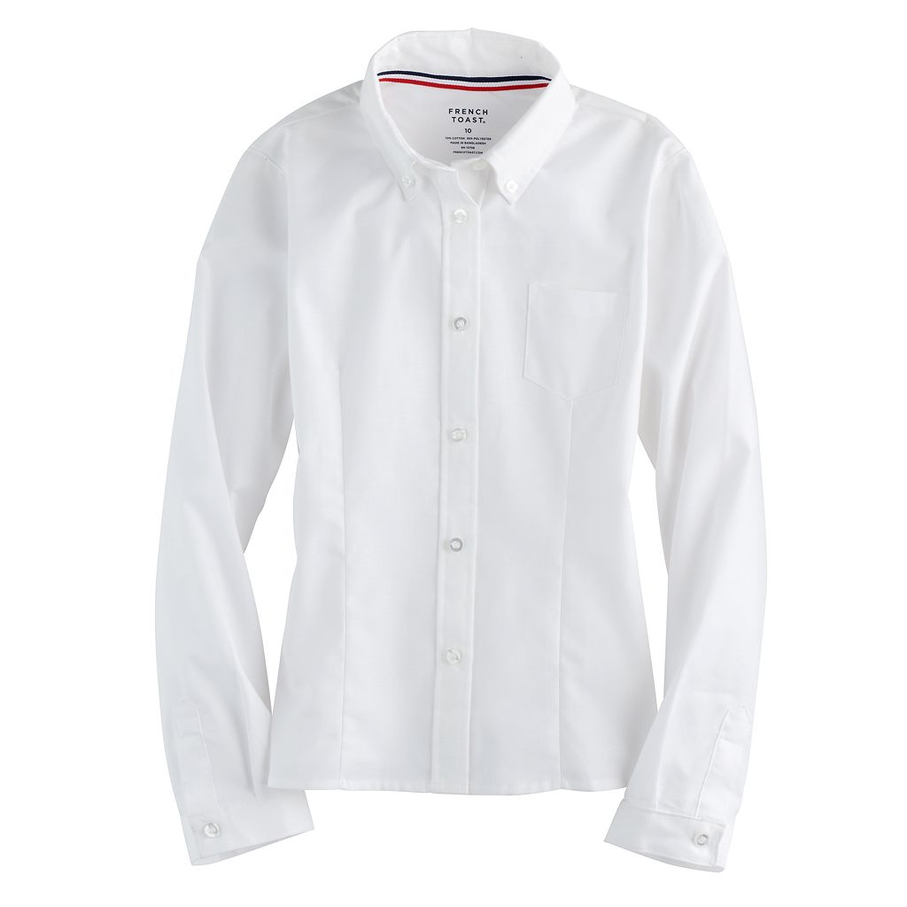 Girls 4-20 & Plus Size French Toast Long Sleeve Oxford Shirt