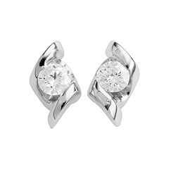 Sirena Collection 14k White Gold 1/4 ctT.W. Diamond Stud Earrings