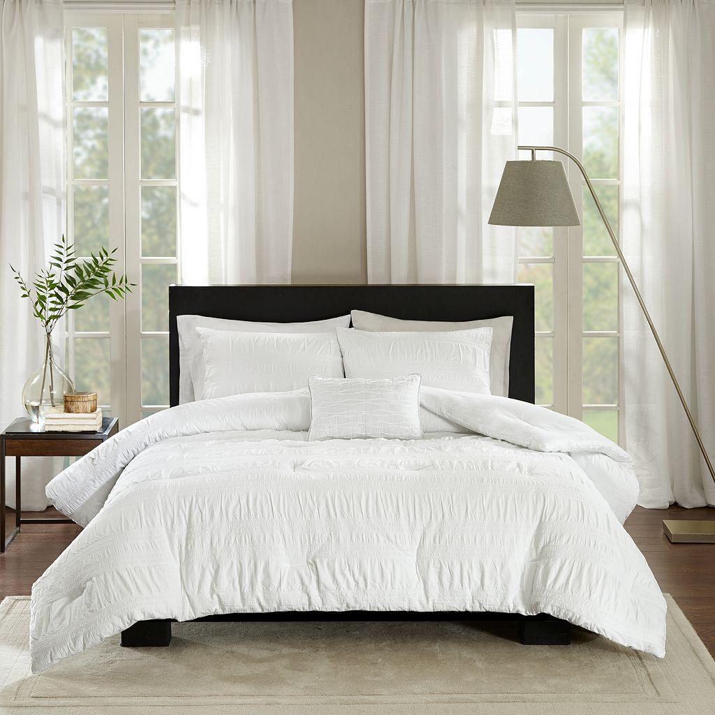 Madison Park 4-piece Kate Seersucker Comforter Set