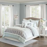 Madison Park 9-piece Paolina Stripe Duvet Cover Set