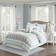 Madison Park 9 pc Paolina Stripe Duvet Cover Set