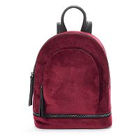 Mudd® Crushed Velvet Mini Dome Backpack