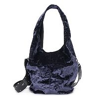Mudd® Crushed Velvet Studded Strap Hobo
