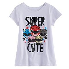 Girls 7-16 Power Rangers 'Super Cute' Glitter Graphic Tee