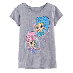 Girls 7-16 Shimmer & Shine Hearts Graphic Tee