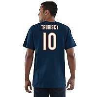 Men's Majestic Chicago Bears Mitch Trubisky Eligible Receiver Tee