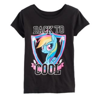 "Girls 7-16 My Little Pony Rainbow Dash ""Back to Cool"" Graphic Tee"
