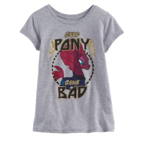 """Girls 7-16 My Little Pony Tempest Shadow """"Good Pony Gone Bad"""" Glitter Graphic Tee"""