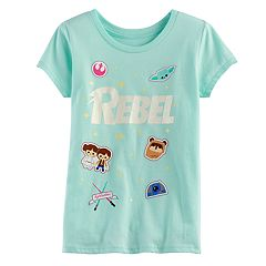 Girls 7-16 Star Wars 'Rebel' Glitter Graphic Tee