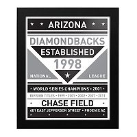 Arizona Diamondbacks Black & White Framed Wall Art