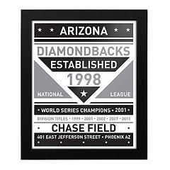 Arizona Diamondbacks Black & White Framed Wall Art