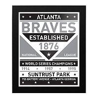 Atlanta Braves Black & White Framed Wall Art