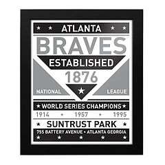Atlanta Braves Black & White Framed Wall Art