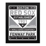 Boston Red Sox Black & White Framed Wall Art