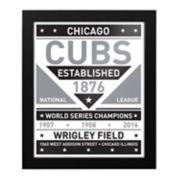 Chicago Cubs Black & White Framed Wall Art
