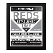 Cincinnati Reds Black & White Framed Wall Art