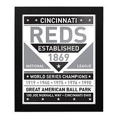 Cincinnati Reds Black & White Framed Wall Art