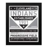 Cleveland Indians Black & White Framed Wall Art