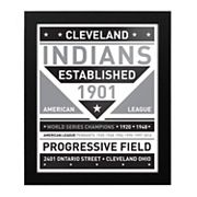 Cleveland Indians Black & White Framed Wall Art