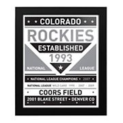 Colorado Rockies Black & White Framed Wall Art