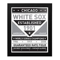 Chicago White Sox Black & White Framed Wall Art
