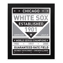 Chicago White Sox Black & White Framed Wall Art