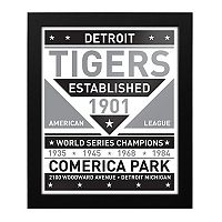 Detroit Tigers Black & White Framed Wall Art