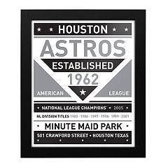 Houston Astros Black & White Framed Wall Art
