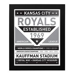 Kansas City Royals Black & White Framed Wall Art
