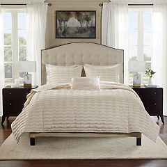 Bombay 4 pc Chandler Charmeuse Pleated Coverlet Set