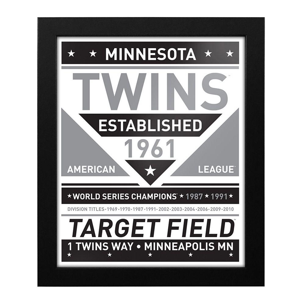 Minnesota Twins Black & White Framed Wall Art