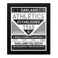Oakland Athletics Black & White Framed Wall Art