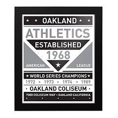Oakland Athletics Black & White Framed Wall Art