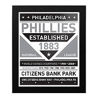 Philadelphia Phillies Black & White Framed Wall Art
