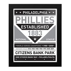 Philadelphia Phillies Black & White Framed Wall Art