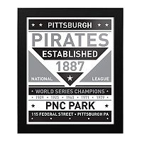 Pittsburgh Pirates Black & White Framed Wall Art
