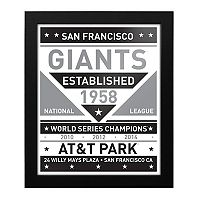 San Francisco Giants Black & White Framed Wall Art