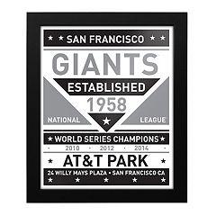 San Francisco Giants Black & White Framed Wall Art